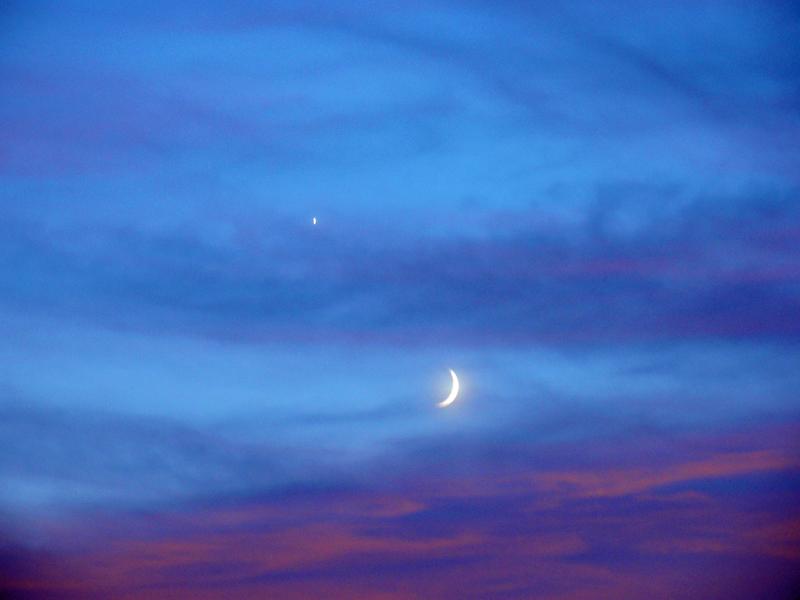 2010/9/11 細い月と宵の明星